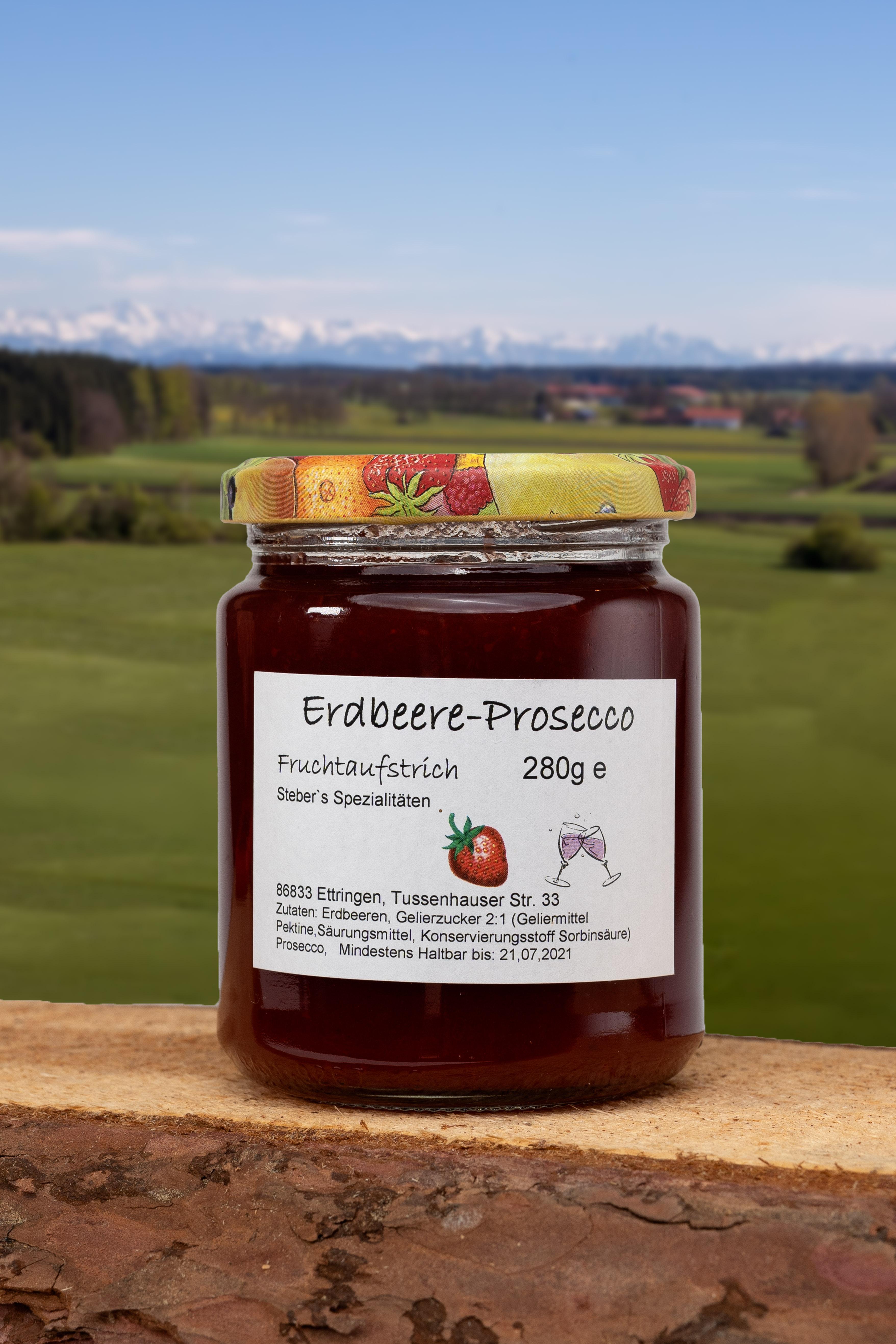 Erdbeere-Prosecco Brotaufstrich