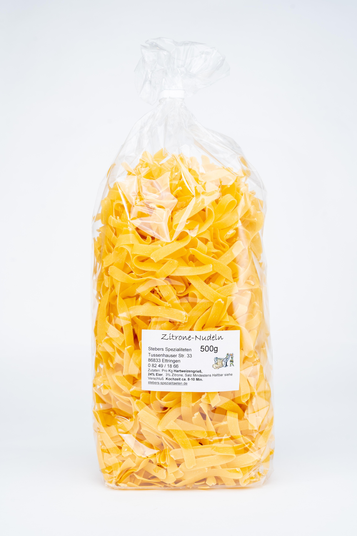 Zitronennudeln, Bandnudeln 6,0mm